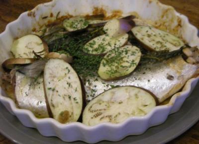 さばと茄子のオーブン焼き ローズマリーの香り!2008.6.8
