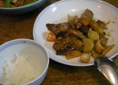 酢豚と炊きたてご飯。2008.6.10