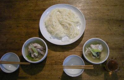 そうめんと鯛と鰤のおしお汁 2008.6.14