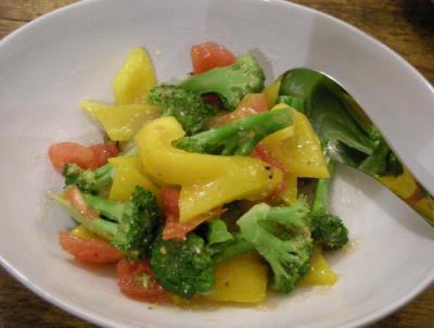 彩りサラダとグレープグルーツのジュレ 2008.6.15