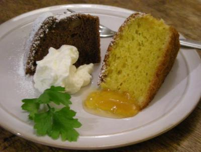 チョコレートケーキと人参ケーキ 2008.6.15