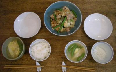 煮物とお味噌汁とごはん!2008.6.17