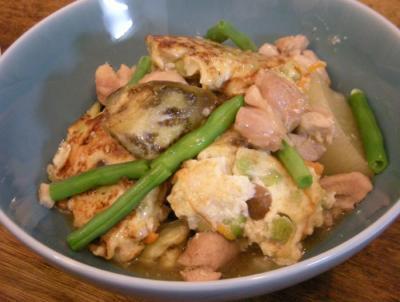 豆腐まんじゅうとたっぷり野菜の煮もの 2008.6.17