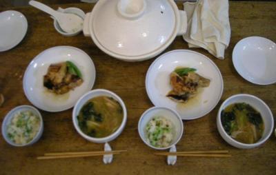 鮭の照り焼きと炊込み土鍋ごはん!和定食!2008.6,28