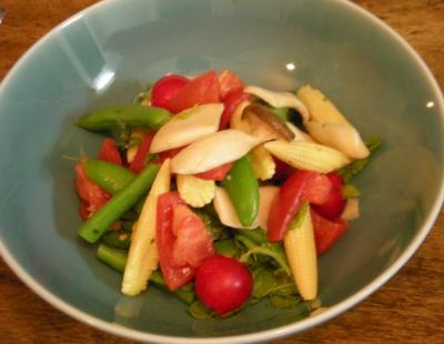 野菜満載の夕食!彩り野菜のサラダ!2008.6.30