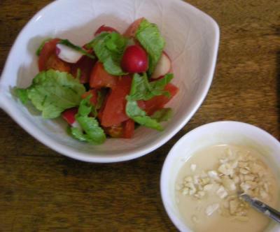 ラディッシュとトマトのサラダ ごまの自家製ドレッシング 2008.7.2
