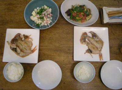 魚と野菜!バランス良くてホッとします!2008.7.4