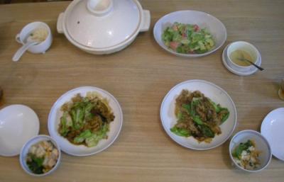新しいテーブルで初のご飯!2008.7.8