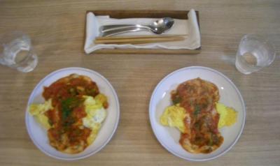 チキンと野菜のオムライス!トマトソースで!2008.7.11