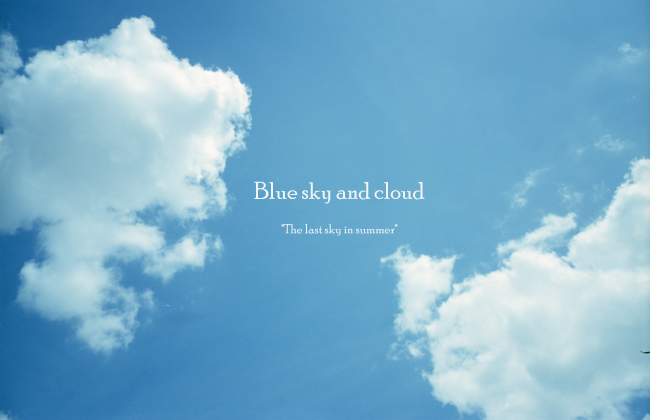 Blue sky and cloud2