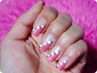 ピンク×ピンクドットネイル