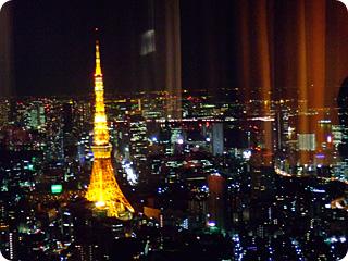 東京タワーも拝める素敵な夜景が広がる空間