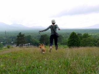 丘を走る~。