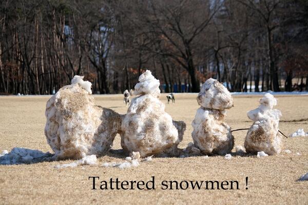 原型が、わからない・・・雪だるま