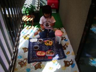 ベランダピクニック