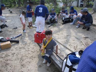0523野球にて