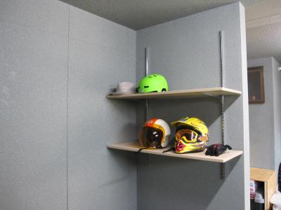 ヘルメット置き