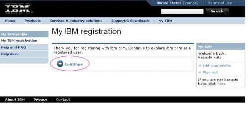 IBM登録完了