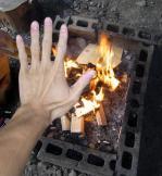 焚き火も簡単にセットOK