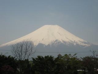 お蕎麦屋さんから見えた富士山