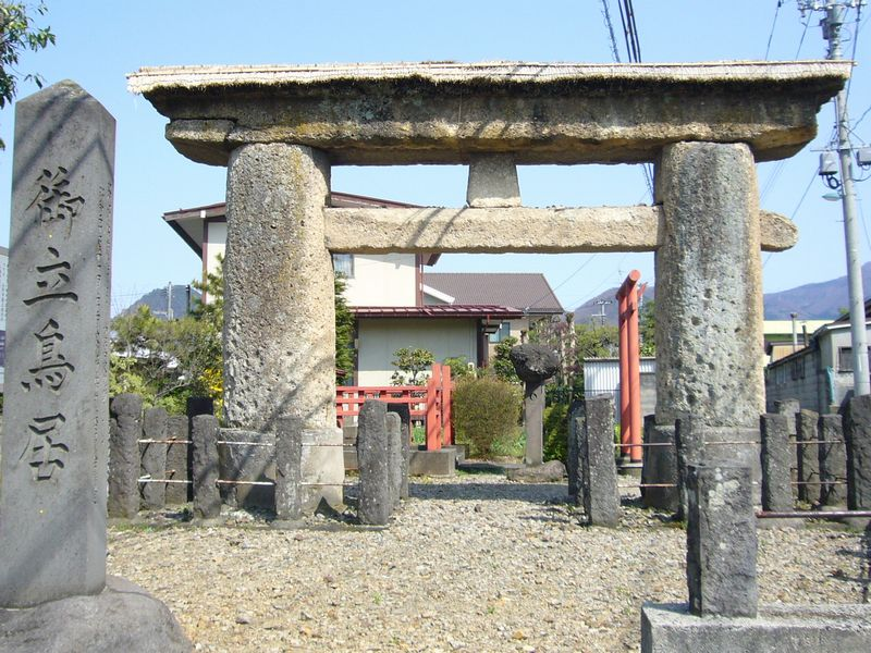 成沢八幡神社石鳥居