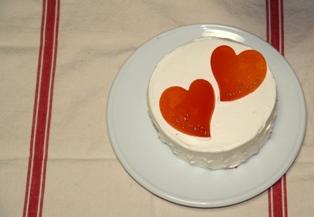 0923 ハートのケーキ