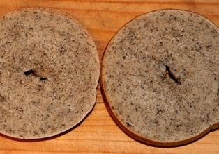 1008 ミニトマト、レモン酵母黒ゴマベーグル