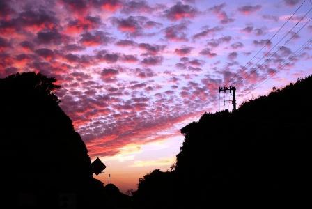 夕焼けうろこ雲