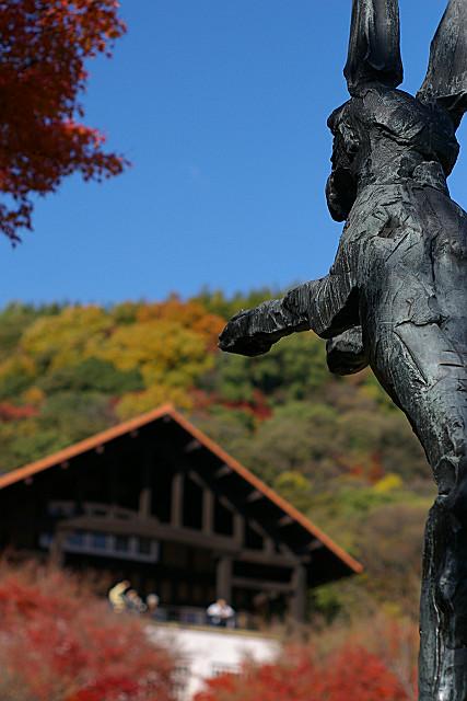 秋晴れの山荘
