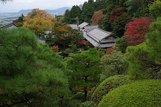 百済寺 天下遠望