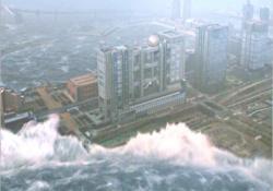 フジテレビを津波が襲う
