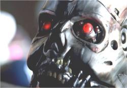 監視する未来から来たサイボーグの仮面