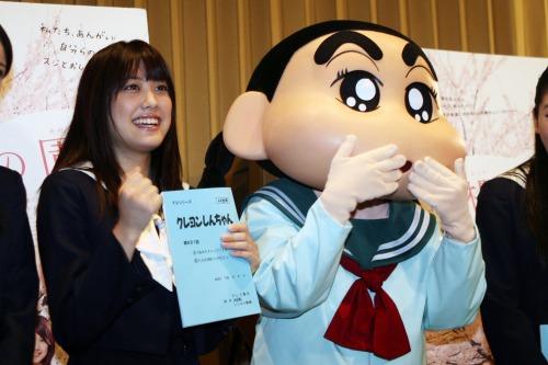 福田沙紀、クレヨンしんちやんに声優でゲスト出演スナップ