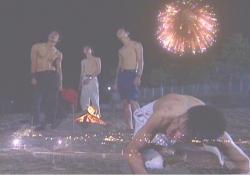 デクによって打ち上げられた花火