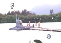出航真近い潜水艦
