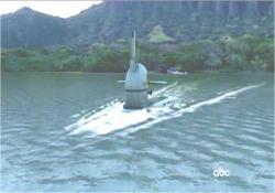 沈む潜水艦