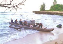 ボートである物を運んできた316便のイラーナたち