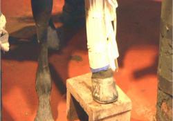 キングの骨折した足