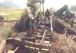 鉄道復旧作業