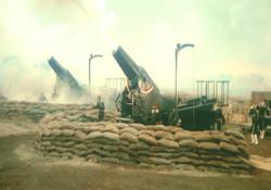 28サンインチ砲、砲撃