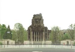 爆破された国会議事堂
