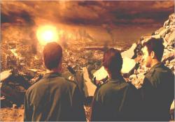 未来の機械軍に壊滅状態の抵抗軍