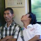 酔っ払いが電車からフェードアウト