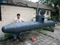 ドラム缶で潜水艦
