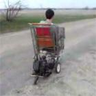 ショッピングカートにエンジン搭載