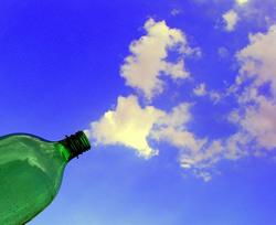 空と雲を使ったアート