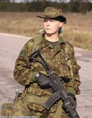 エストニアの女性兵士