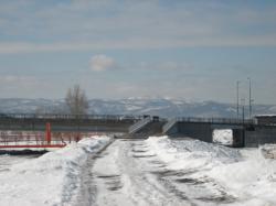 この冬工事中だった秋月橋