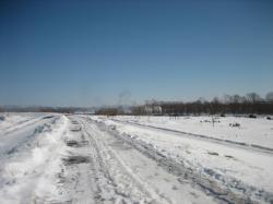 堤防の雪もとけてきましたね(^^)