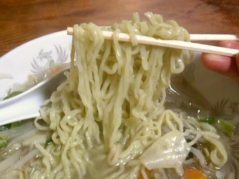 音羽屋・塩タンメン 麺